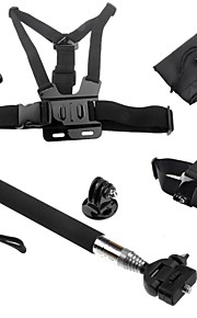 Accessories For GoProTelescopic Pole / Chest Harness / Front Mounting / Monopod / Tripod / Gopro Case/Bags / Hand Grips/Finger Grooves /