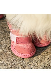 Lovely Soft Nylon fastener tape Shoes for Dogs(Assorted Color,XS-XL,4-Piece)