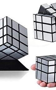 Espelho de prata 3x3x3 presentes brinquedo cubo bloco suave torção velocidade de quebra-cabeça mágica de cor aleatória