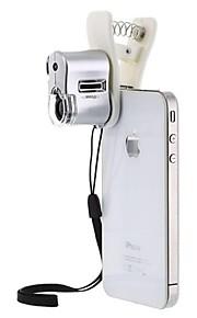 apexel 63x Mini LED e ampliador de jóias bolso luz uv microscópio lupa com clip para mais de celular