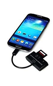 3 in 1 Mikro-USB-Schnittstelle Kartenleser usb 2.0 Unterstützung T-Blitz Sd-MMC für ogt Handy