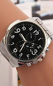 Mulheres Relógio Elegante Quartzo Lega Banda Prata Branco Preto