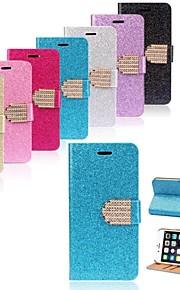 lusso bling Glitter Borsellino copertura di vibrazione della cassa del cuoio per iPhone 6 (colori assortiti)