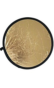 80 centímetros 2 em 1 ouro iluminador prata reflector (ouro)