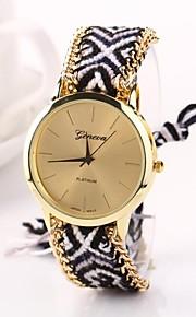 Mulheres Relógio de Moda Quartzo Tecido Banda Boêmio Cores Múltiplas Dourado