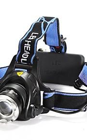 Lights Headlamps LED 1200 Lumens 3 Mode Cree XM-L T6 18650 Adjustable Focus / Waterproof / Rechargeable / Impact Resistant