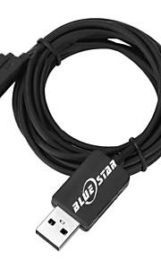 BlueStar ™ usb 2.0 cable de carga para Sony Xperia z3 / l55u / xperia z2 / d6503 / l39h / xperia z1 (negro) (200cm)