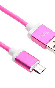 100CM Micro USB Aluminum Cable for HTC/Xiaomi/Huawei
