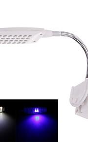 dee-028 flexibele hals 48-led 2-mode blauw&wit licht lamp voor aquaria (wit) (AC 220 ~ 240V)