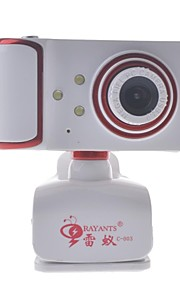 rayants C-003 8,0 MP HD-webkamera med night vision lys / micphone