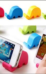 elefante a forma di supporto in plastica universale per samsung iphone cellulare (colore casuale)