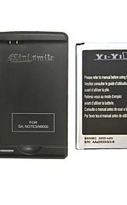 minismile ™ vervanging 3200mAh li-ion batterij met een speciale batterijlader voor Samsung Galaxy Note 3 / N9000 / n9005