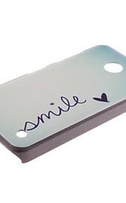 """palabras """"sonrisa"""" y dulce Herat pattern pc caso duro con el lápiz táctil para N630 Nokia Lumia"""