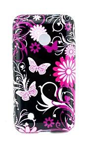 Caso suave del patrón de mariposa TPU 4 pulgadas de la contraportada para Nokia Lumia 530