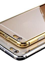 luxe vergulde metalen frame voegt transparante dekking van PC telefoon shell voor telefoon 6
