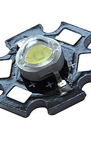 6500-7000k 1W 1000LM 600mAh White LED Light Bulb with Aluminum Plate (3.0-3.6V)
