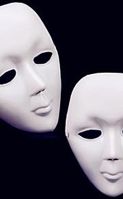 1stk halloween hvid street dance maske med bånd (21x15cm)