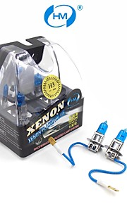 HM® Xenon Plasma H3 12V 100W Halogen Lamp Headlight White Light Bulbs (a Pair)