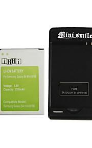 minismile ™ ons plug usb lader met 3350mah batterij voor Samsung Galaxy S4 mini / i9190 (1 batterij + 1 lader)
