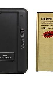 minismile ™ vervangende 3.85v 4500mAh li-ion batterij met een speciale batterijlader voor Samsung Galaxy Note 4 / n9100