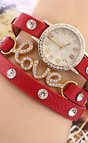 Mulheres Bracele Relógio Quartzo Strass imitação de diamante PU Banda Pendente Preta Vermelho Preto Amarelo Vermelho Verde Azul Real