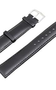 22 milímetros pu relógio de couro banda substituição alça pulseira preta