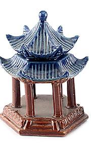 Sunsun Ceramic Pavilion Decoration for Fish Tank Aquarium