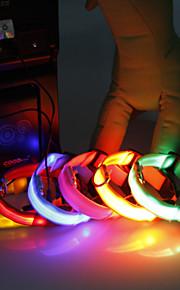 Kaulapannat - Nailon - LED valot - Valkoinen / Vihreä / Pinkki - Koirat / Kissat -