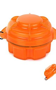 Water-Resistant Drop Protection Storage Box Case Container for Chips / Batteries / Gadgets- Orange