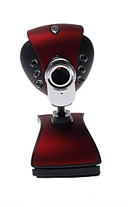 Webcam - Portable - 640 x 480 - LED de Vision Nocturne/Communication Vidéo HD/Flexible - 8.0