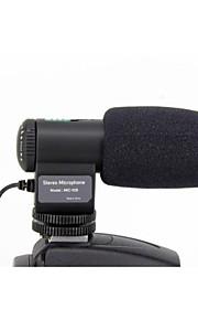 mic-109 høj følsom mini stereo mikrofon til kamera med 3,5 mm jack adapter