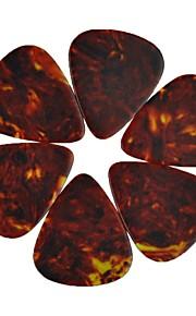médio guitarra 0,71 milímetros pega palhetas celulóide 100pcs-pack marrom