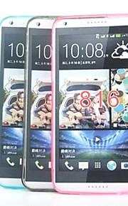 cubierta de la caja - HTC Desire 816 - Silicona/TPU - Cubierta Trasera - Superficie Acristalada/Diseño Especial/Transparentes/Novedades -