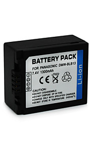 DMW-BLB13 - Li-ion - Batterij - voorfor Panasonic Lumix DMC-G1 DMC-G10 DMC-G10GK DMC-G10K DMC-G1KEG-R DMC-G1KGK <br>DMC-G1R DMC-G1W