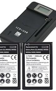 batería de repuesto - 3500mAh - Samsung - Samsung Galaxy Note 3 - Note III / N9000 / N9005 / N900A / N900 / N9002 - Sí - USA/USB -
