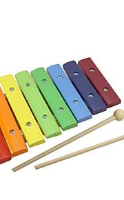 benho cor 8 escalas música xilofone brinquedo do bebê instrumento