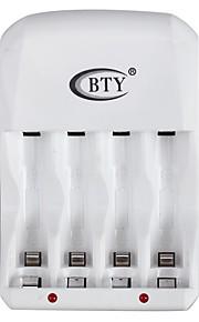 bty c804u 4-sleuf AA / AAA batterijlader met usb - wit (us plug)