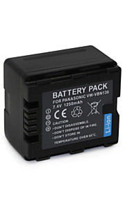 VW-VBN130 - Li-ion - Batterij - voor for Panasonic  HDC-HS900 HDC-TM900 HDC-SD900 HDC-SD800 - 7.4V - ( V ) - 1250mAh - ( mAh )
