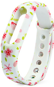 Floral Pattern Strap TPU Wristwatch Band for Xiaomi Miband