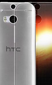 Para Funda HTC Ultrafina / Transparente Funda Cubierta Trasera Funda Un Color Suave TPU HTC