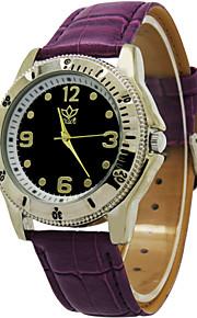 relógio de mostrador redondo relógio ocasional relógio pulseira de couro de quartzo de pulso de moda dos homens (cores sortidas)