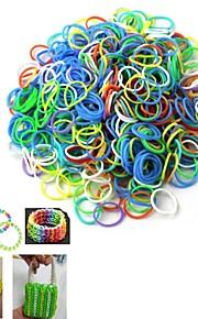 DIY elastik vævning armbånd (600pcs)