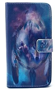 Body collant portefeuille / Support de Carte / résister Animal Cuir PU Dur Couverture de cas pour Samsung GalaxyS6 edge / S6 / S5 Mini /