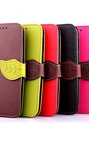 HTC 하나 M9 펜 5 인치 잎 패턴 지갑 가죽 케이스 (모듬 색상)