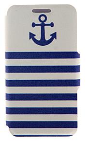 kinston® ancla patrón de la raya naval de cuerpo completo la cubierta de la PU con el soporte para HTC uno M7 / M8 / M9 y HTC Desire