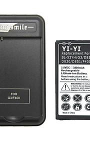 3800 - LG - LG G3 - vervang batterij - G3BB - Ja - USA -