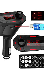 Wireless Car Kit MP3 Player FM Transmitter Redlight Display SD MMC Slot Remote Control Car Stereo Receiver