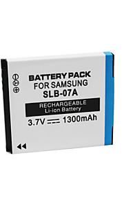 SLB-07A - Li-ion - Batterij - voor for  Samsung  ST45 ST50 ST500 ST550 ST600 PL150 - 3.7V - ( V ) - 1300mAh - ( mAh )