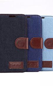 Coperchio manicotto protettivo intelligente jean pelle tela per la galassia S6 (colori assortiti)