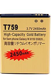 batería de repuesto - 2450 - Samsung - W I8150/Wave 3 S8600 - Galaxy W i8150 S5820 - No